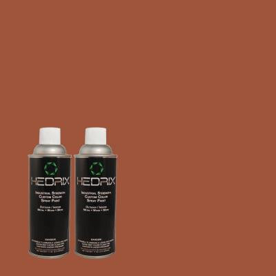11 oz. Match of 5836 Williamsburg Brick Semi-Gloss Custom Spray Paint (2-Pack)