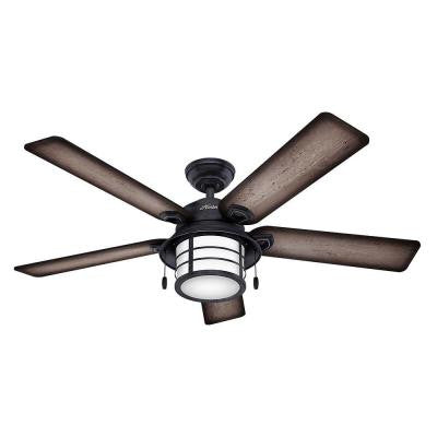 Key Biscayne 54 in. Outdoor Weathered Zinc Ceiling Fan