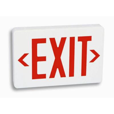 Nexis 1 Light Thermoplastic LED Universal Mount Red Exit Sign