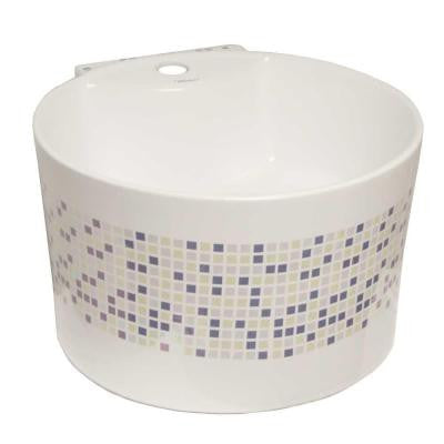 Isabella Round Wall-Mounted Bathroom Sink in White