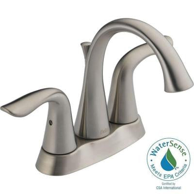 Lahara 4 in. Centerset 2-Handle High Arc Bathroom Faucet in Stainless