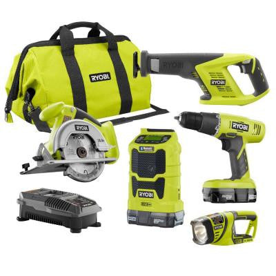 ONE+ 18-Volt Lithium-Ion Cordless Combo Kit (5-Piece)