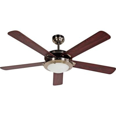 Eastport 52 in. Satin Nickel Ceiling Fan