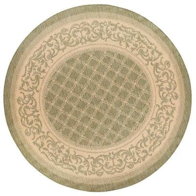 Entwined Green/Natural 8 ft. 6 in. Round Area Rug