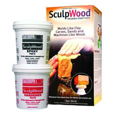 8 oz. Sculpwood Two Part Epoxy Putty Kit with 4 oz. Resin and 4 oz. Hardener