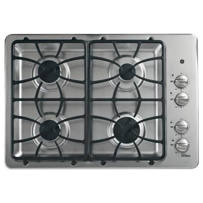 30 in. Gas Cooktop in Stainless Steel with 4 Burners including Power Boil Burner