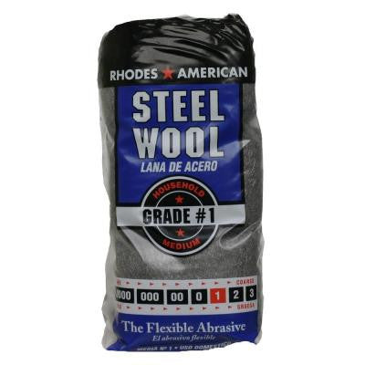 #1 12 Pad Steel Wool, Medium Grade