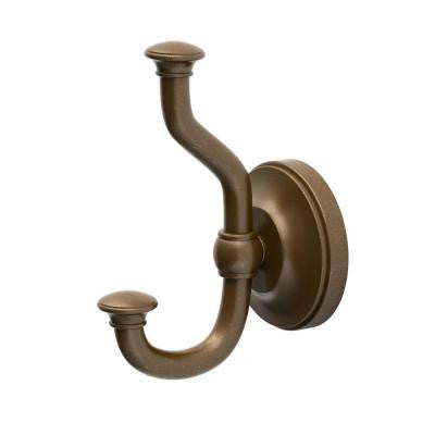 Tavern Double Robe Hook in Bronze