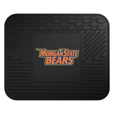 NCAA Morgan State University Black Heavy Duty 1-Piece 14 in. x 17 in. Vinyl Utility Mat
