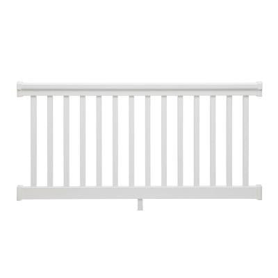 6 ft. x 36 in. PVC White Straight Rail Kit with Square Balusters