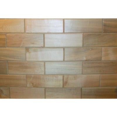 3 in. X 8 in. Maple Wooden Wall Tile