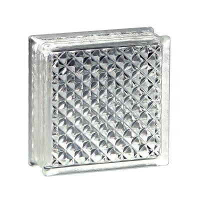 8 in. x 8 in. x 3 in. Delphi Pattern Glass Block (10-Case)