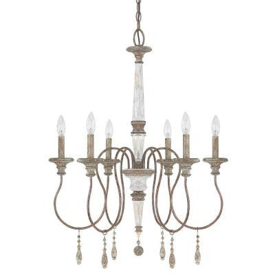 Austin Allen & Co. 6-Light French Antique Chandelier