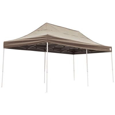 10 ft. x 20 ft. Straight Leg Pop Up Desert Bronze Cover Canopy