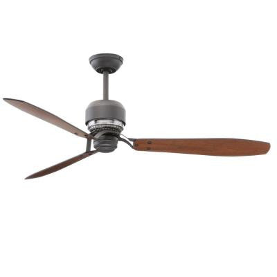 Tribeca 60 in. Graphite Ceiling Fan with 4 Speed Wall Mount Control