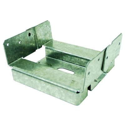 6 in. x 6 in. Rough Galvanized Adjustable Post Base