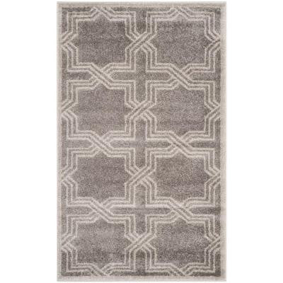 Amherst Grey/Light Grey 3 ft. x 5 ft. Indoor/Outdoor Area Rug