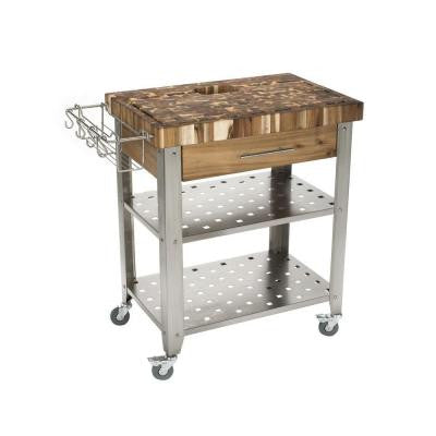 20 in. x 30 in. Indoor/Outdoor Pro Stadium Work center with Stainless Steel Legs and Shelves