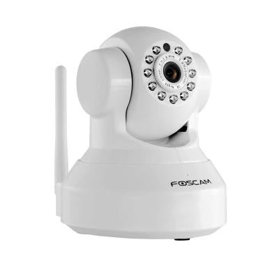 Plug and Play White Indoor Wireless IP Camera 1.0 Megapixel 720p H.264 Pan/Tilt