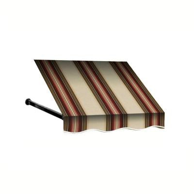 10 ft. Dallas Retro Window/Entry Awning (24 in. H x 42 in. D) in Brown/Linen/Terra Cotta Stripe