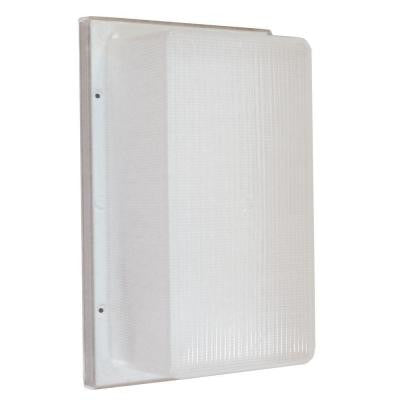 Multi-Use Flush Mount 1-Light Outdoor White LED Wall Pack Fixture