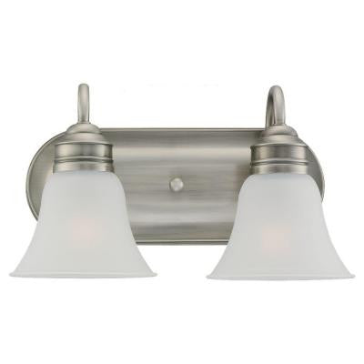 Gladstone 2-Light Antique Brushed Nickel Vanity Fixture