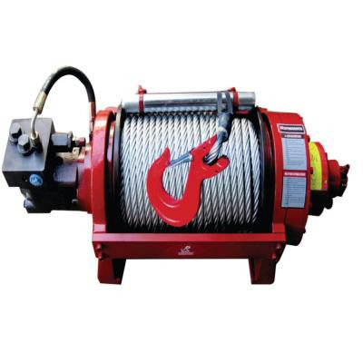 20,000 lb. Capacity Industrial Duty Hydraulic Winch with 157 ft. Steel Cable