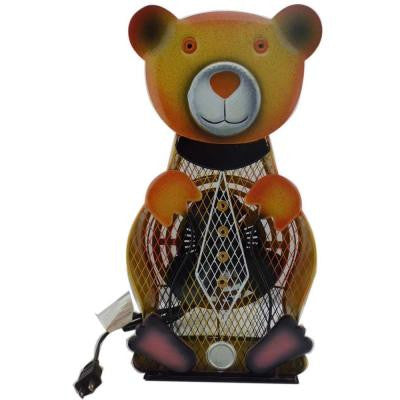 9 in. Himalayan Breeze Decorative Bear Table Top Fan (Large)