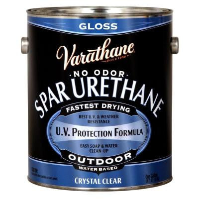 1 gal. Clear Gloss Water-Based Exterior Spar Urethane (Case of 2)