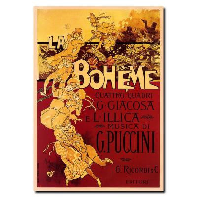 35 in. x 47 in. Adolfo Hohenstein 'BohemePuccini' Gallery Wrapped Canvas