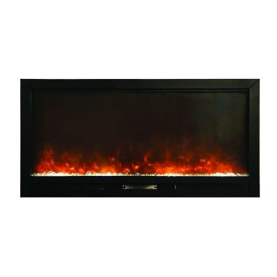 50 in. Wall-Mount Electric Fireplace in Black