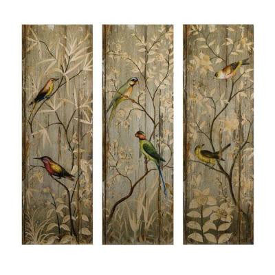 42 in. H Calima Bird Wall Decor (Set of 3)