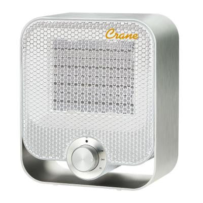 1,200-Watt Aluminum Ceramic Personal Heater - White