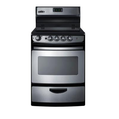 24 in. 3 cu. ft. Electric Range in Stainless Steel
