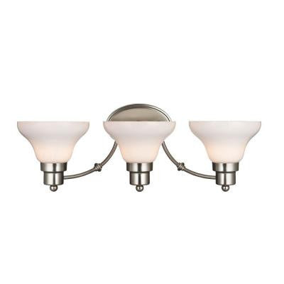 Swanstone 3-Light Satin Nickel Wall Fixture