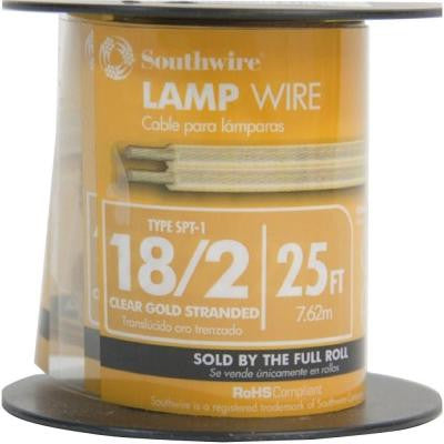 25 ft. 18/2 Lamp Wire - Gold