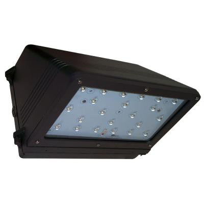 37-Watt Bronze Outdoor LED Full Cutoff Wall Pack