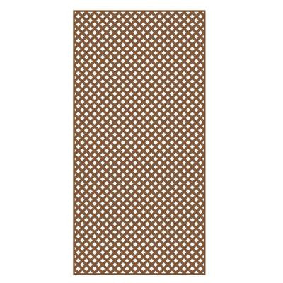 0.2 in. x 4 ft. x 8 ft. Redwood Vinyl Privacy Diamond Lattice