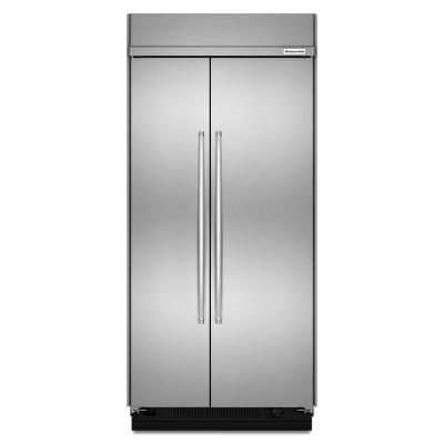 42 in. 25.5 cu. ft. Side by Side Refrigerator in Stainless Steel