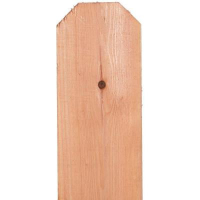 11/16 in. x 5-1/2 in. x 6 ft. Construction Common Redwood Dog-Ear Fence Picket