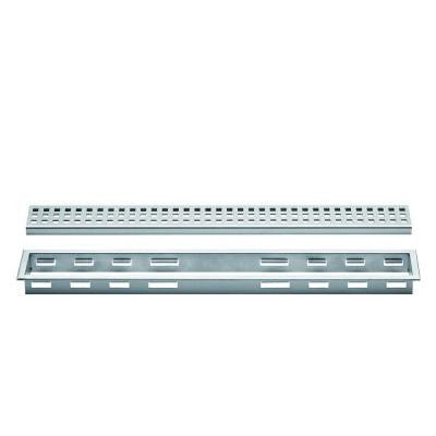 Kerdi-Line Brushed Stainless Steel 36 in. Metal Perforated Drain Grate Assembly