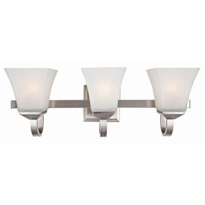 Torino 3-Light Satin Nickel Vanity Light