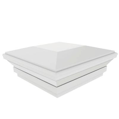 4 in. x 4 in. Vinyl White Contemporary Post Top