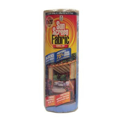 6 ft. x 20 ft. Saddle Tan Sun Screen Shade Cloth