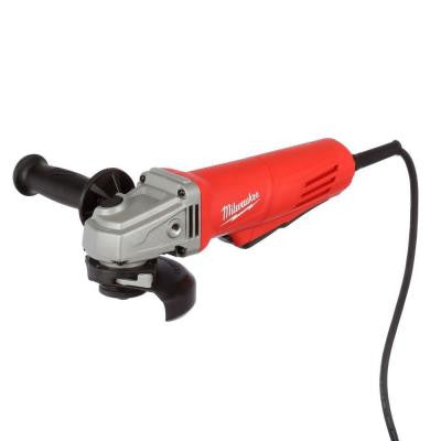 11-Amp 4.5 in. Small Angle Grinder with Paddle Lock-on Switch