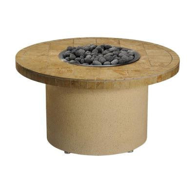 44 in. Round Ice N' Fire Pit in Sandalwood