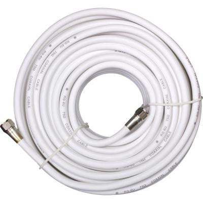 50 ft. White RG-6 Coaxial Cable
