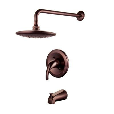 Single-Handle Pressure Balanced Tub and Shower Faucet in Oil Rubbed Bronze