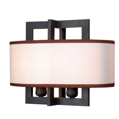 Cathedral 2-Light Rust Sconce with Shade