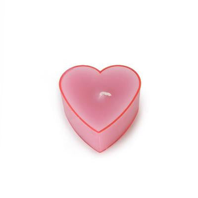 Pink Heart Tealight Candles (6-Pack)